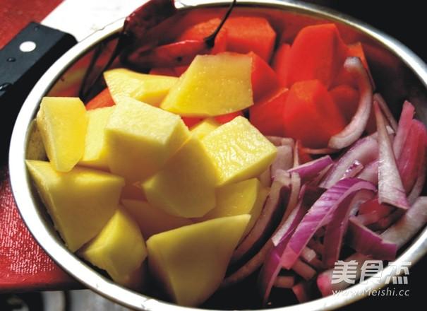 土豆西红柿牛腩汤的步骤