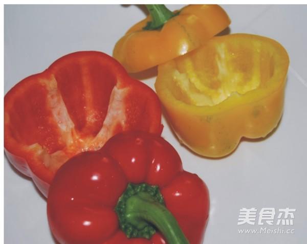 杏鲍菇彩椒盅的做法图解