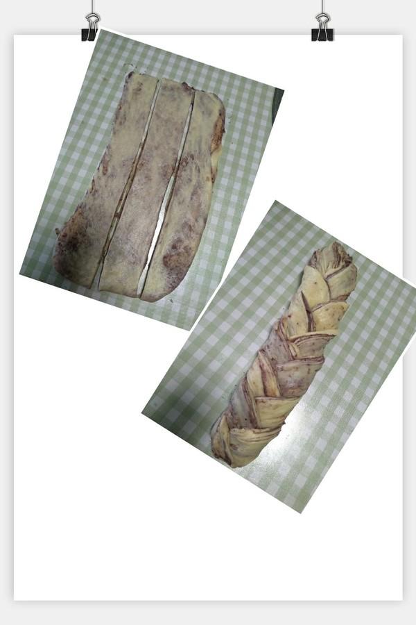 无需揉出膜的手撕豆沙面包。的步骤