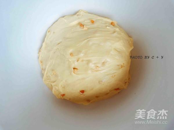 颗颗香浓花生粒入口的南瓜乳酪软欧包怎么做