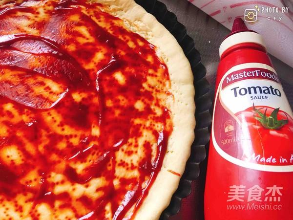 西班牙香肠披萨(快手版)怎么煸