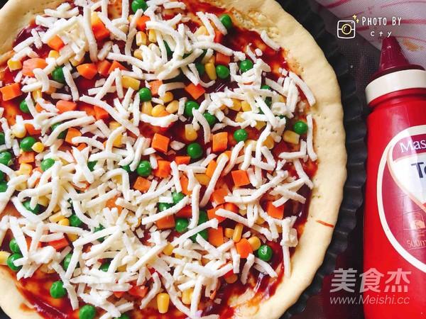 西班牙香肠披萨(快手版)怎样煸