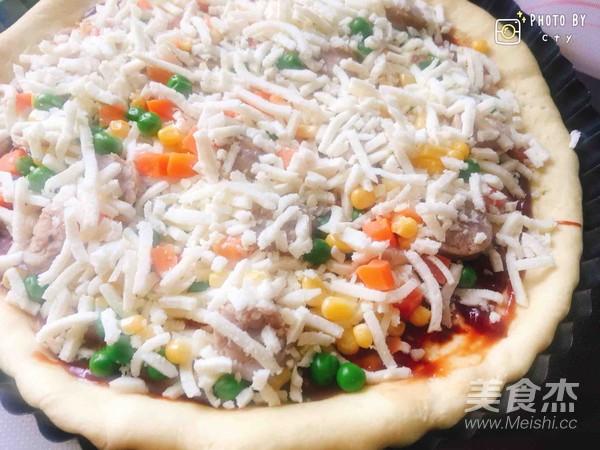 西班牙香肠披萨(快手版)怎样煮