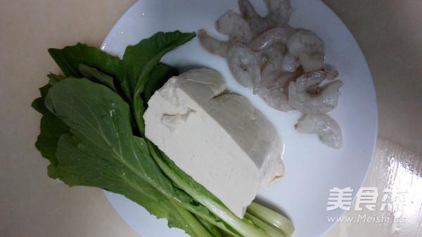 小白菜虾仁豆腐汤的做法大全