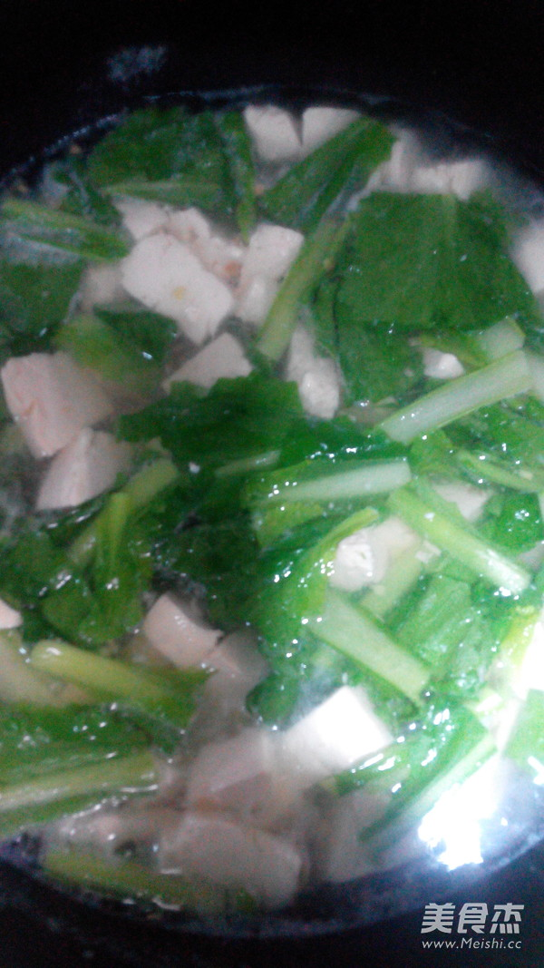 小白菜虾仁豆腐汤的简单做法