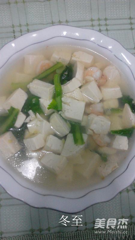 小白菜虾仁豆腐汤怎么吃