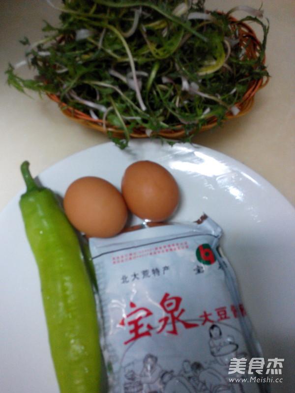蒲公英蘸鸡蛋酱的做法大全