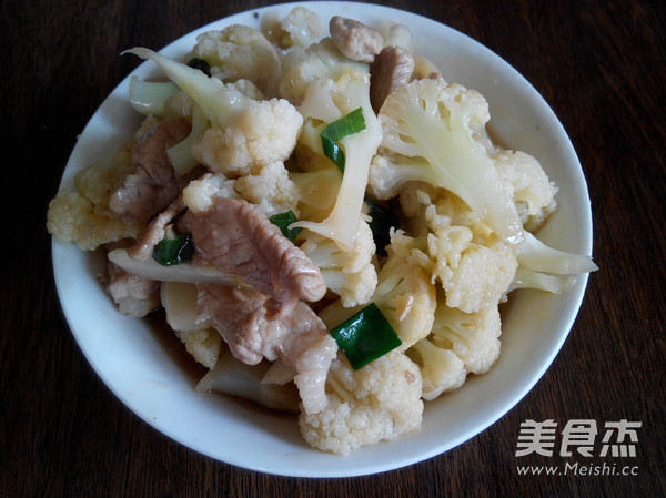 菜花炒肉片怎么做