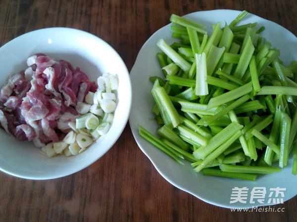 芹菜炒肉的做法图解