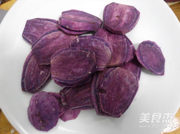 烤紫薯片的做法图解