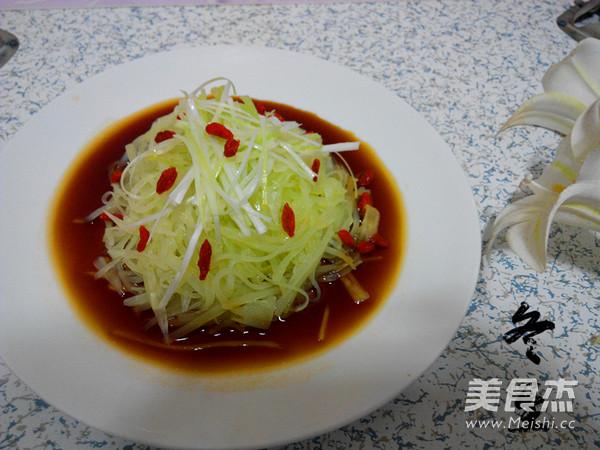 葱香莴苣成品图