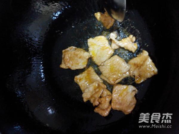 鲜蘑肉片怎么做