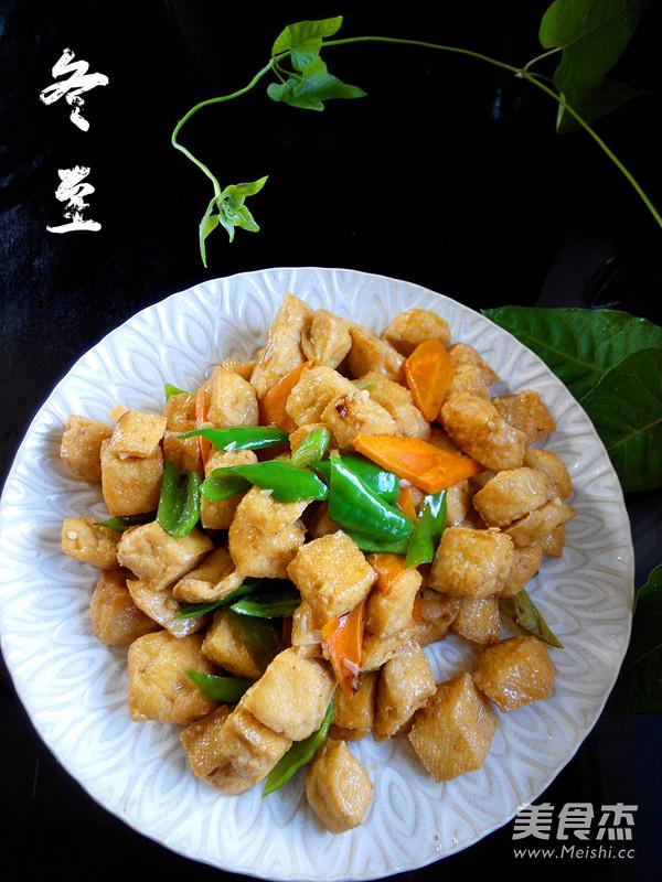 尖椒豆腐泡成品图