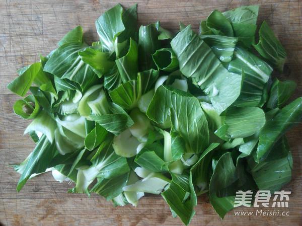 油菜炒豆腐泡的做法图解
