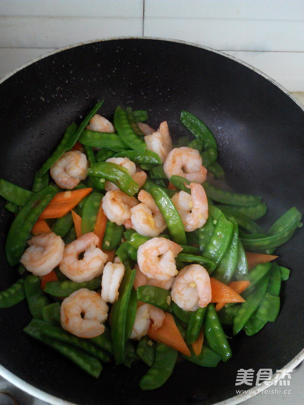 荷兰豆炒虾仁怎么煮