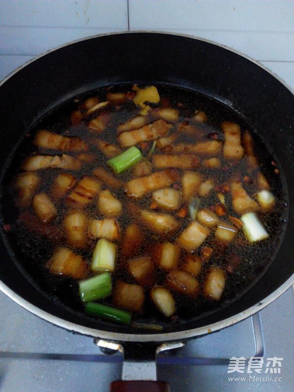 红烧肉炖油豆角怎么吃