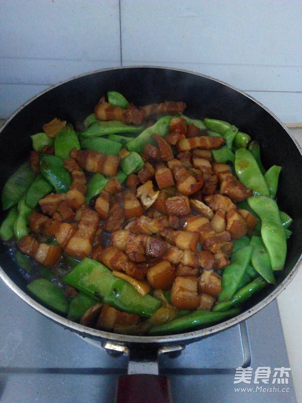 红烧肉炖油豆角怎么煮