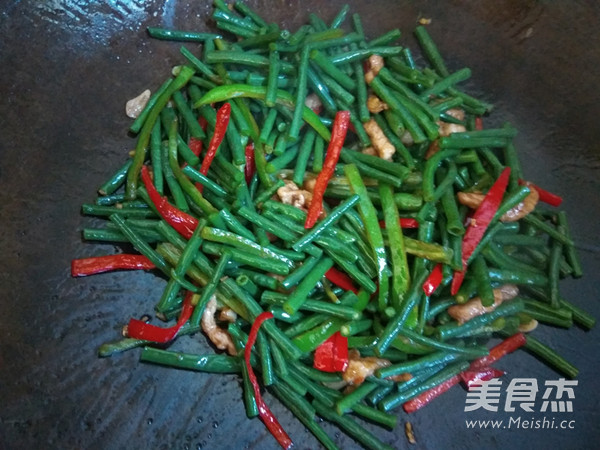 尖椒肉丝炒豇豆怎么炒