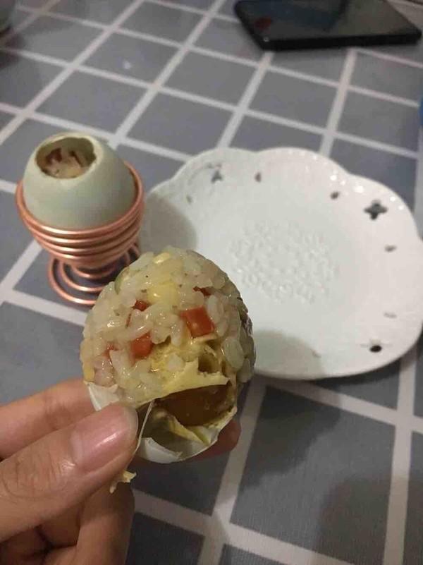 糯米咸鸭蛋怎么吃