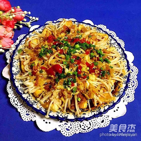 蒜蓉豆腐蒸金针菇怎样炒