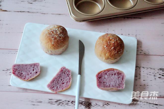 紫薯椰蓉小餐包成品图