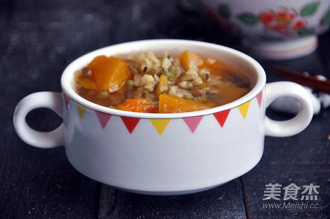 南瓜绿豆汤成品图