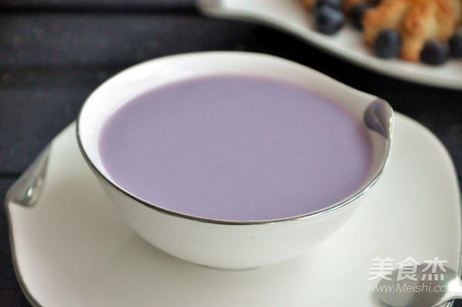 紫薯豆浆的简单做法