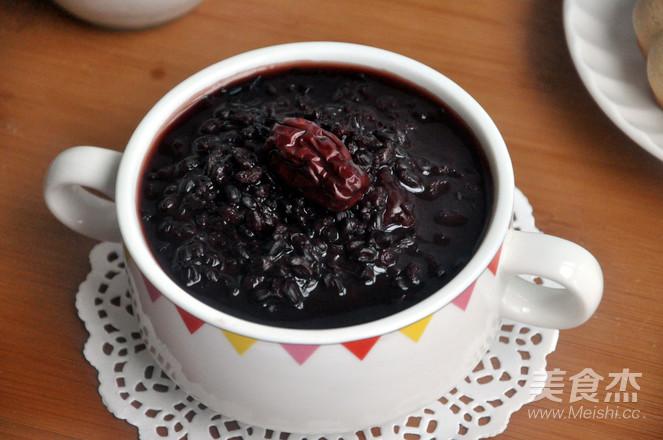 红糖红枣黑米粥怎么炒