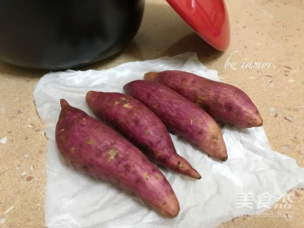 砂锅烤红薯的步骤