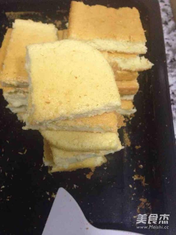 高筋面粉做的蛋糕成品图