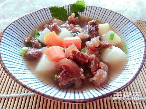 牛肉炖萝卜土豆怎么煸