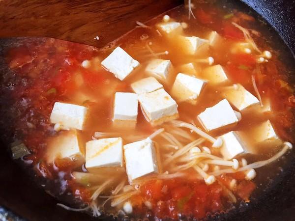 金针菇豆腐汤怎么吃