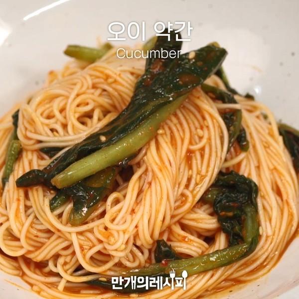 萝卜缨泡菜拌面怎么吃