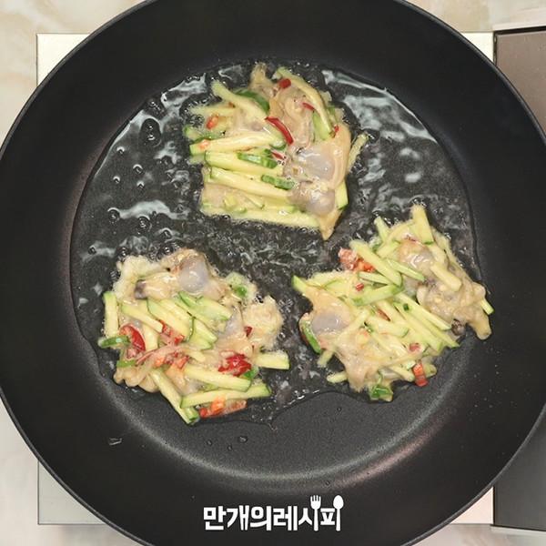 西葫芦蛤蜊煎饼的简单做法