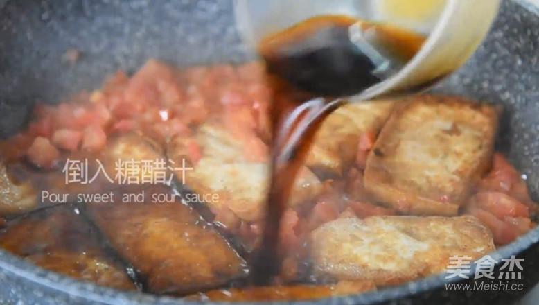 快手菜,糖醋脆皮豆腐怎样煸