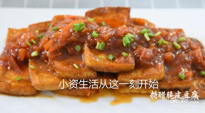 快手菜,糖醋脆皮豆腐怎样炒