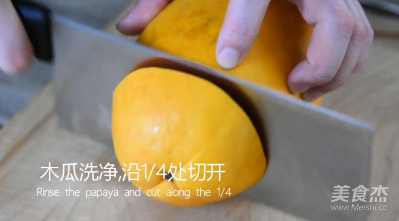 木瓜牛奶冻的步骤