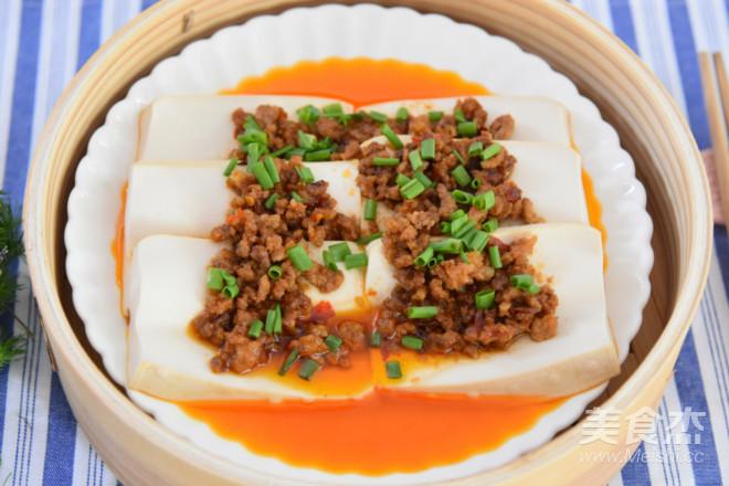 肉末蒸豆腐成品图