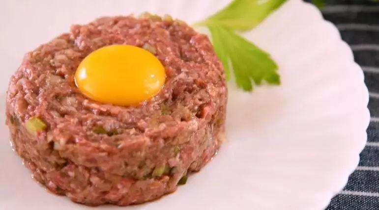 鞑靼牛肉成品图