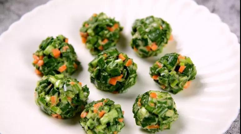 韭菜丸子的简单做法