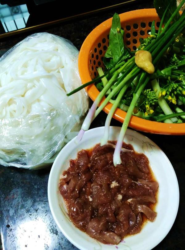 肉菜炒河粉的做法大全