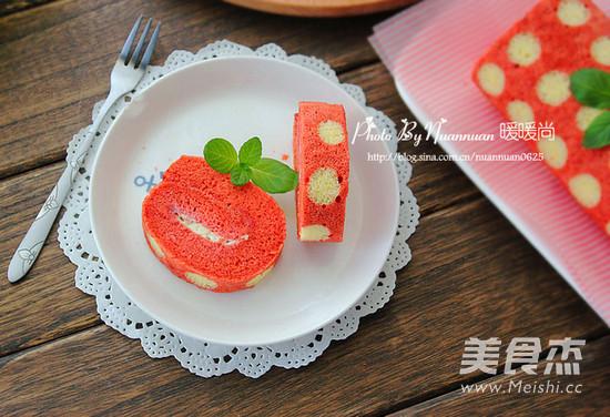 红丝绒波点蛋糕卷怎样煸