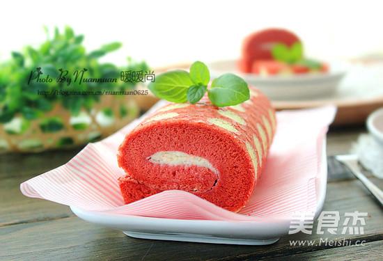 红丝绒波点蛋糕卷怎么煸