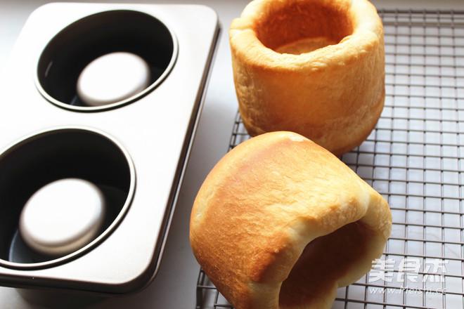 蛤蜊浓汤面包盅怎么炖
