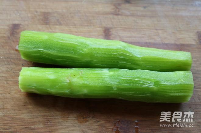 葱香莴苣卷的做法图解