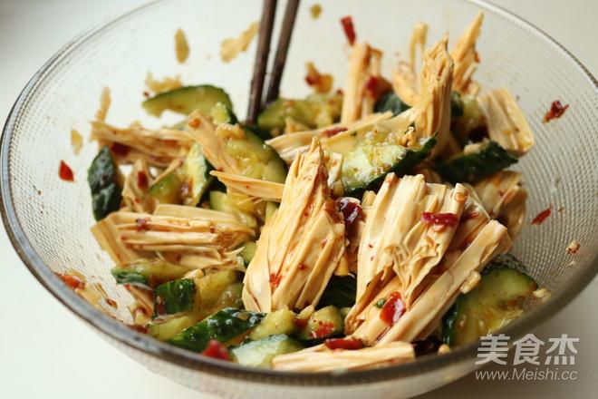 黄瓜拌腐竹怎么做