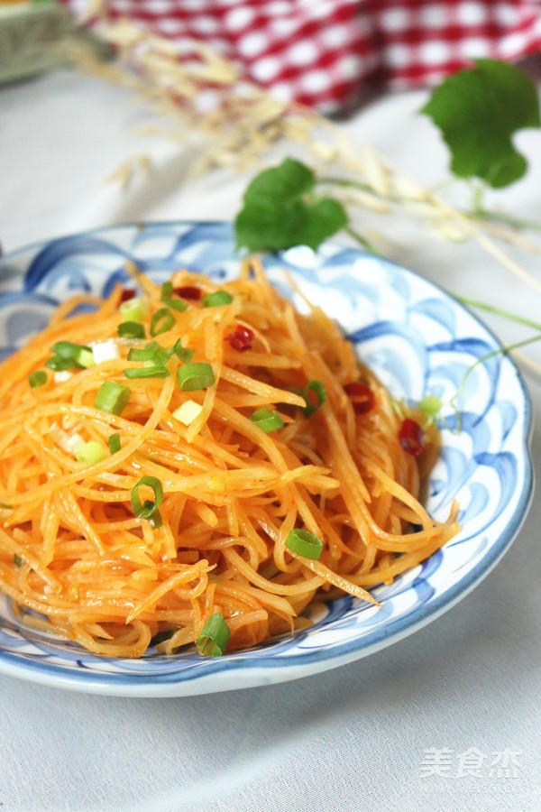 红油土豆丝成品图