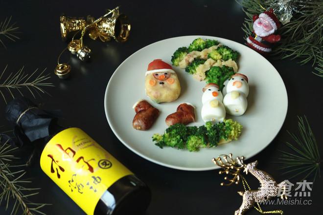 圣诞派对香肠土豆泥沙拉#早餐#成品图