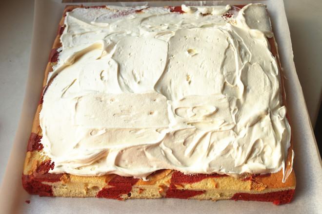 圣诞蛋糕卷的制作