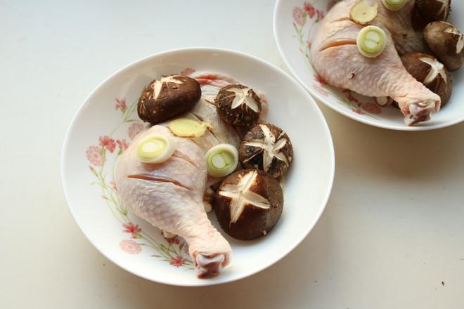 香菇蒸鸡腿的简单做法